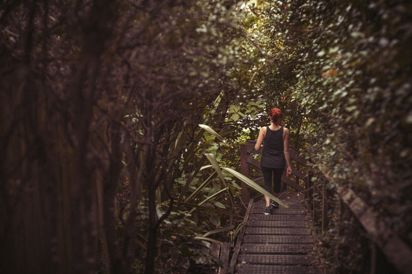 Naturopath Lisa Fitzgibbon on a 'green walk' through the bush to improve sleep