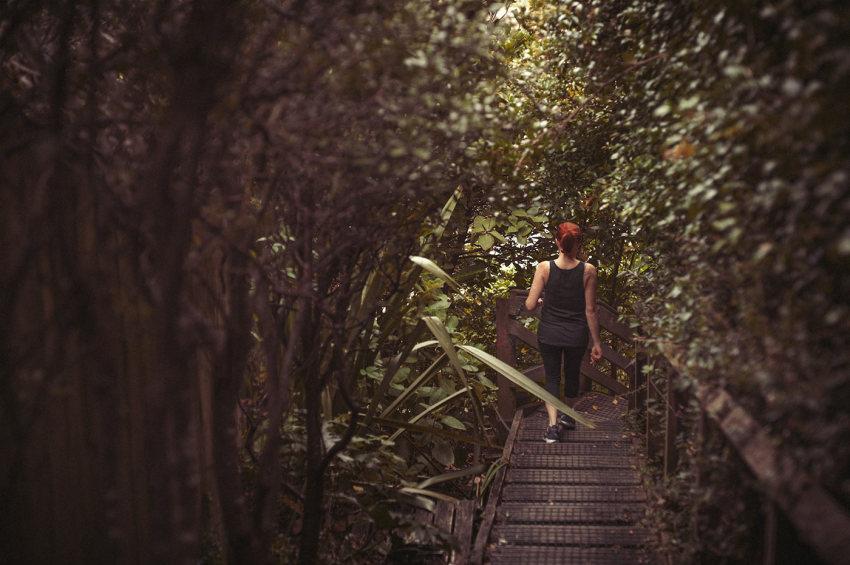 Naturopath Lisa Fitzgibbon on a 'green walk' through the bush to improve sleep