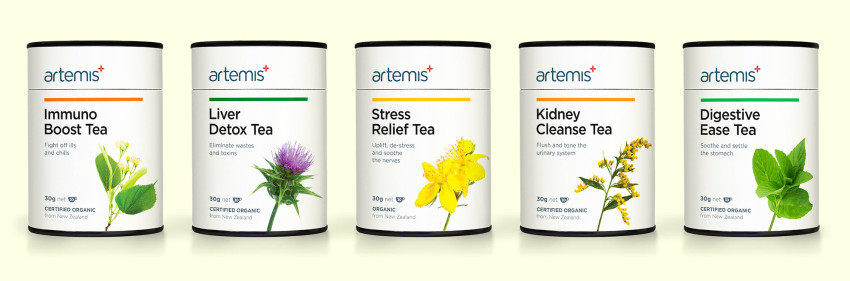 A selection of Artemis tea's to explain the acid alkaline body myth