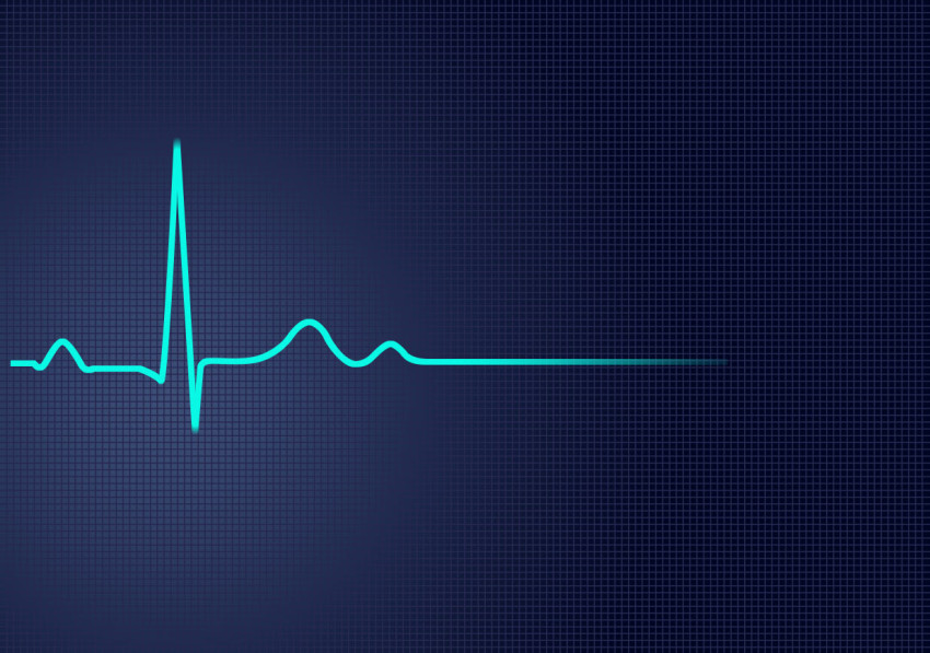 An ECG graph to indicate the flat-lining you get when constantly drinking coffee
