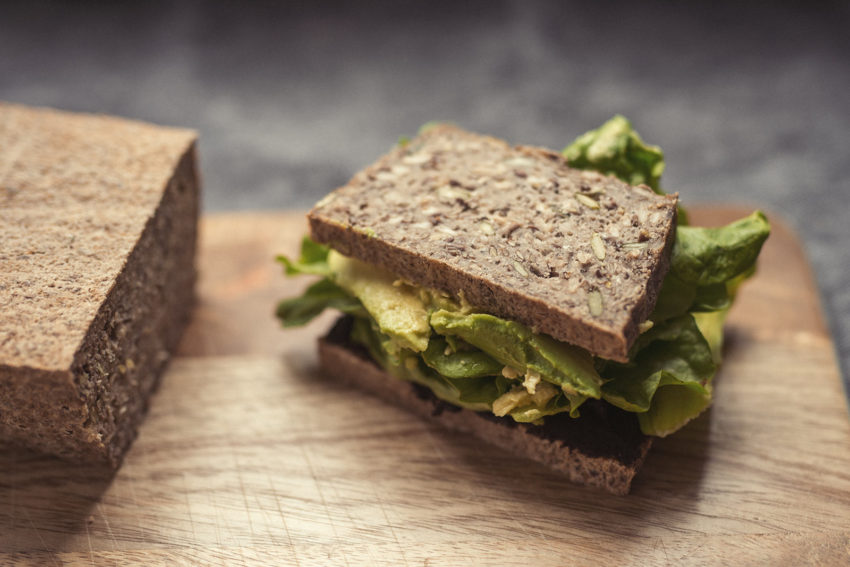 A Hatcho Miso paste avocado and lettuce sandwich on The Midnight Baker's bread