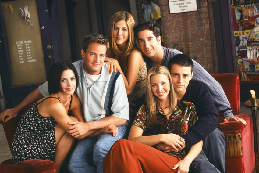 The cast of the television show Friends portraying healthy friendships