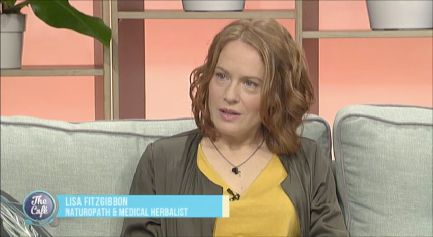 Naturopath Lisa Fitzgibbon is interviewed on the breakfast show The Cafe about sleep