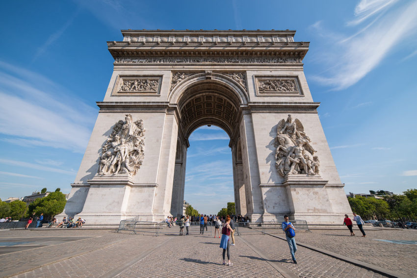 Naturopath Lisa Fitzgibbon standing in front of the Arc de Triomphe
