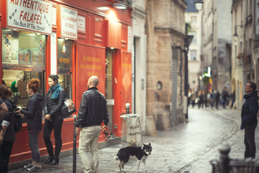 Naturopath Lisa Fitzgibbon at a kebab store in Paris enjoying a minimalist lifestyle