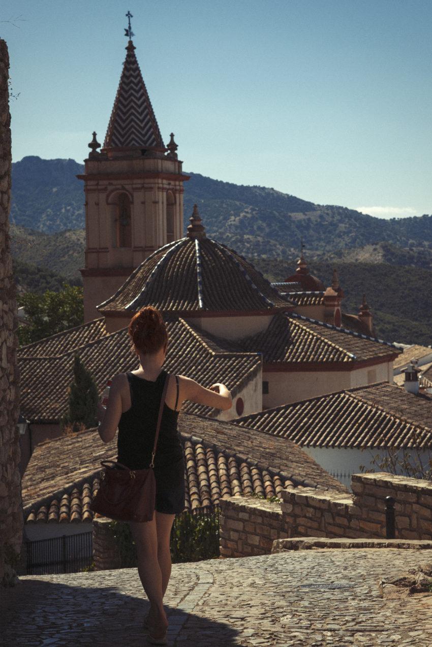 Naturopath Lisa Fitzgibbon exploring a foreign village enjoying a minimalist lifestyle