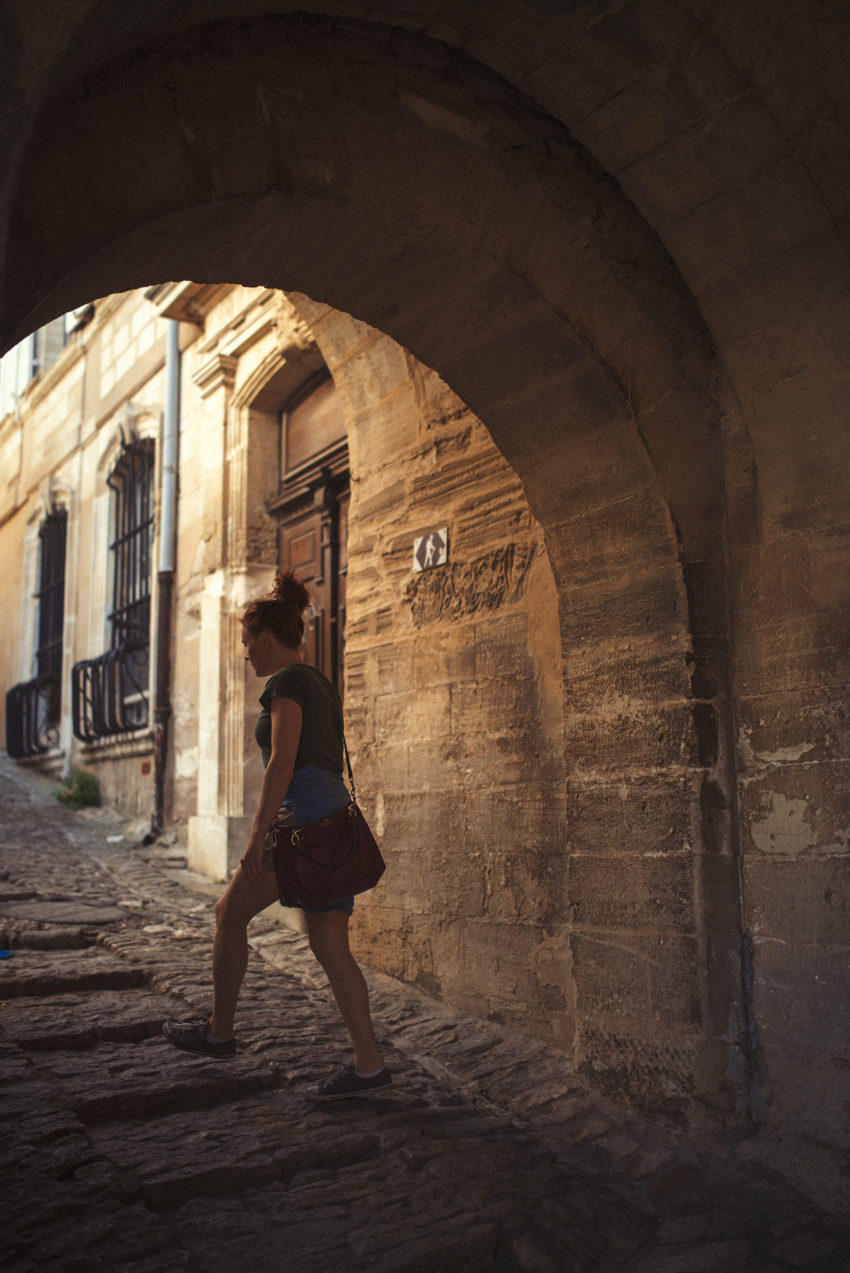 Naturopath Lisa Fitzgibbon exploring a village in the south of France