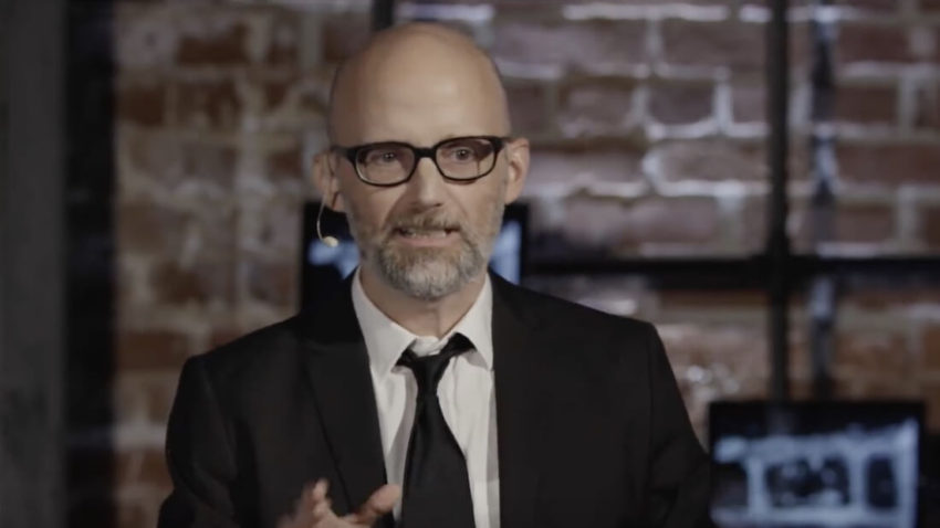 Moby giving a TedX talk on being a Vegan