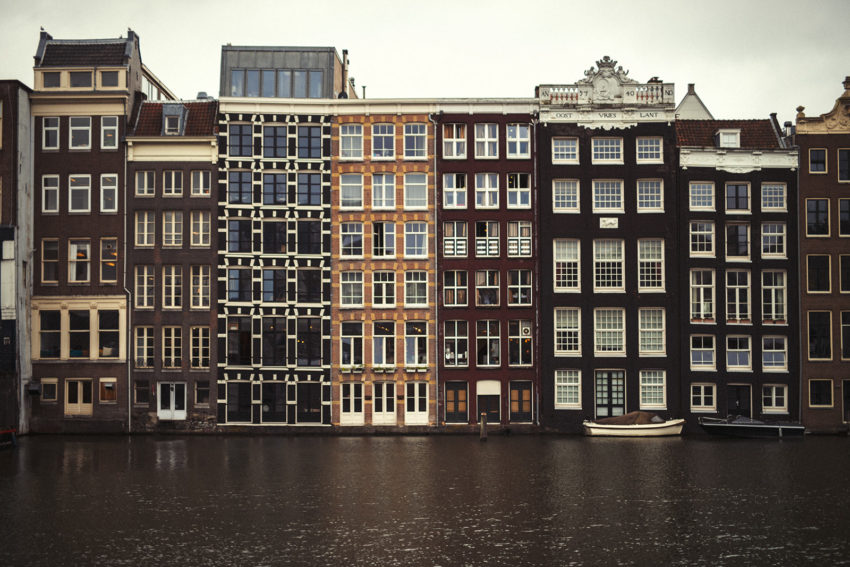 A line of character homes in Amsterdam where Naturopath Lisa Fitzgibbon visited
