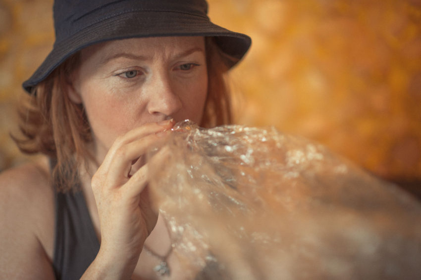 Naturopath Lisa Fitzgibbon experimenting with Marijuana in a Coffee Show in Amsterdam